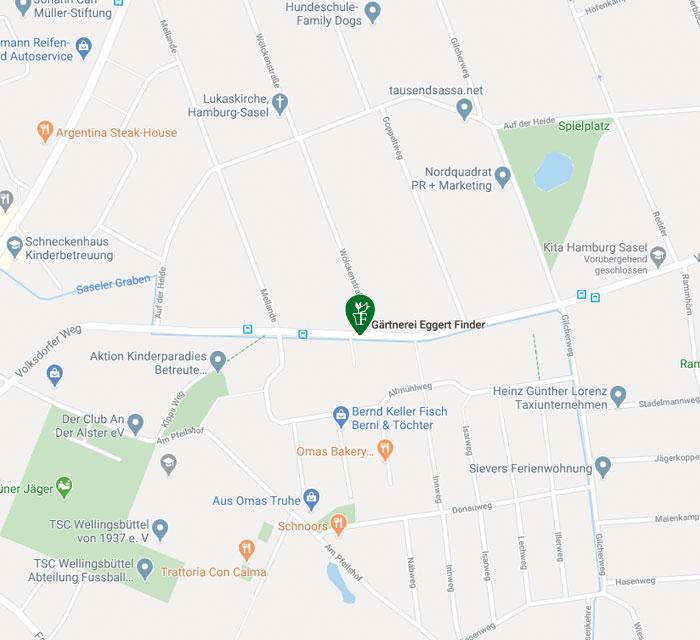 Karte Google Gärtnerei Finder